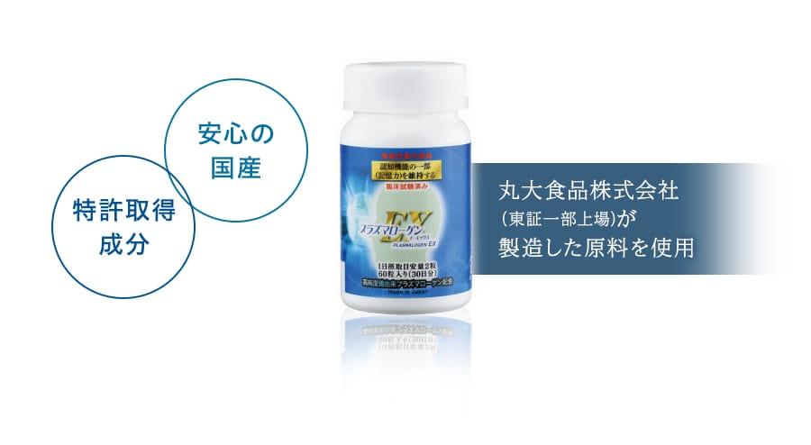 丸大食品株式会社(東証一部上場)が製造した原料を使用